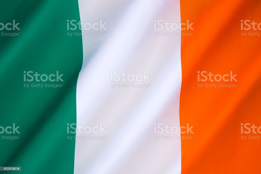 Flag of the Republic of Ireland stock photo