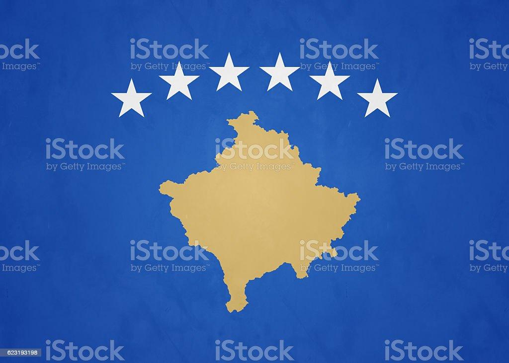 Flag Of The Republic Of Kosovo stock photo
