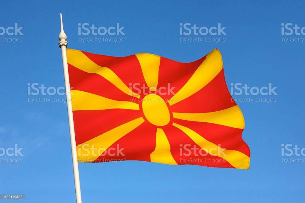 Flag of the Republic of Macedonia. stock photo
