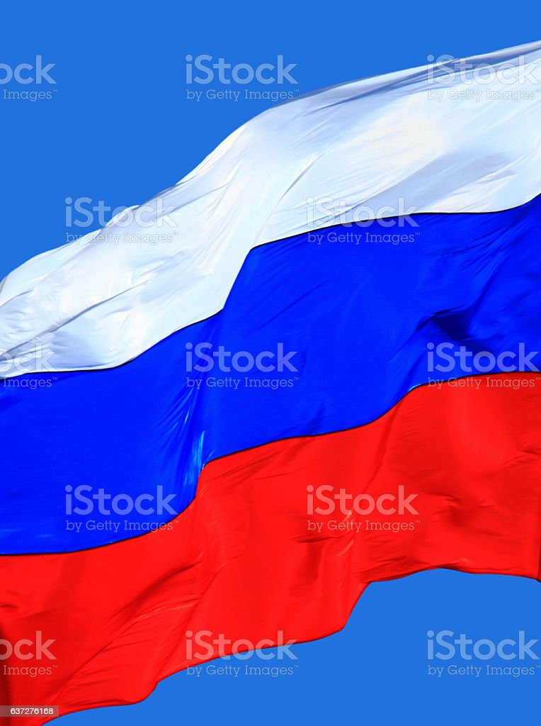 Flag of the Russia stock photo