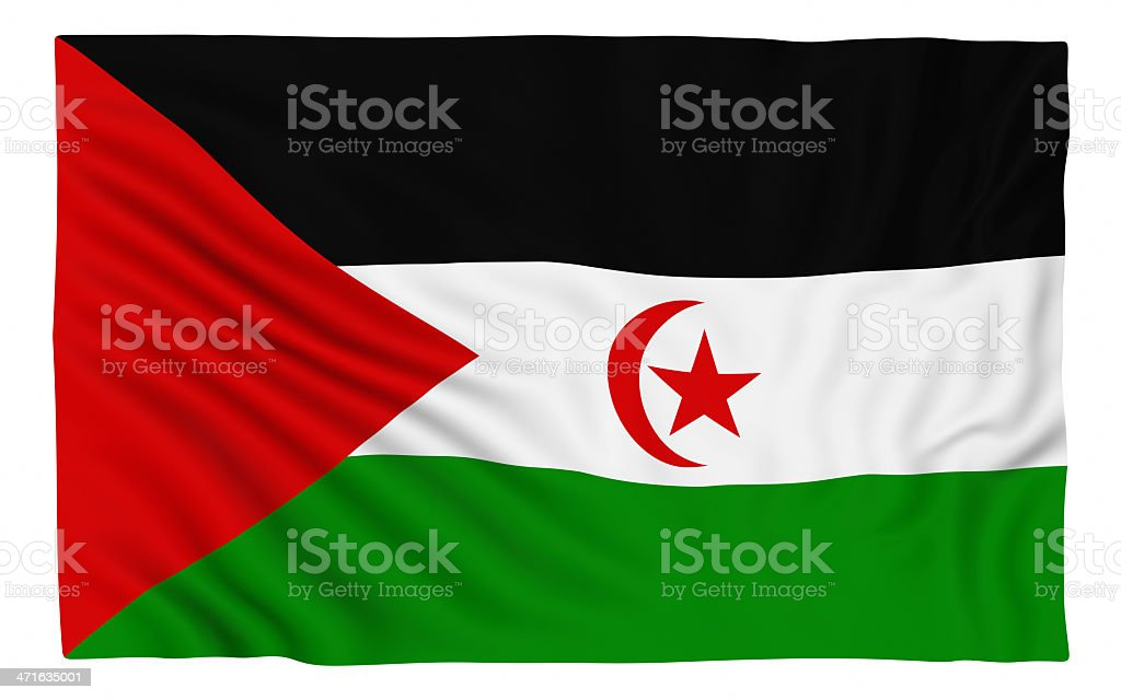 Flag of the Sahrawi Arab Democratic Republic stock photo