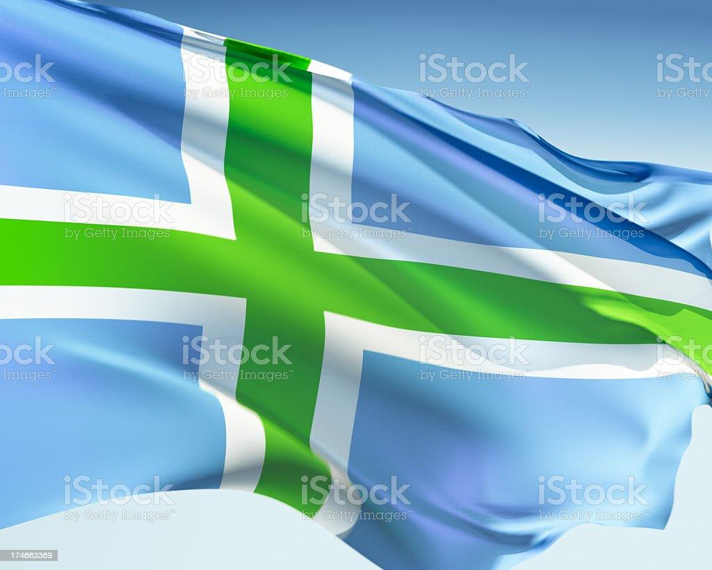 Flag of the Scottish Highlands stock photo