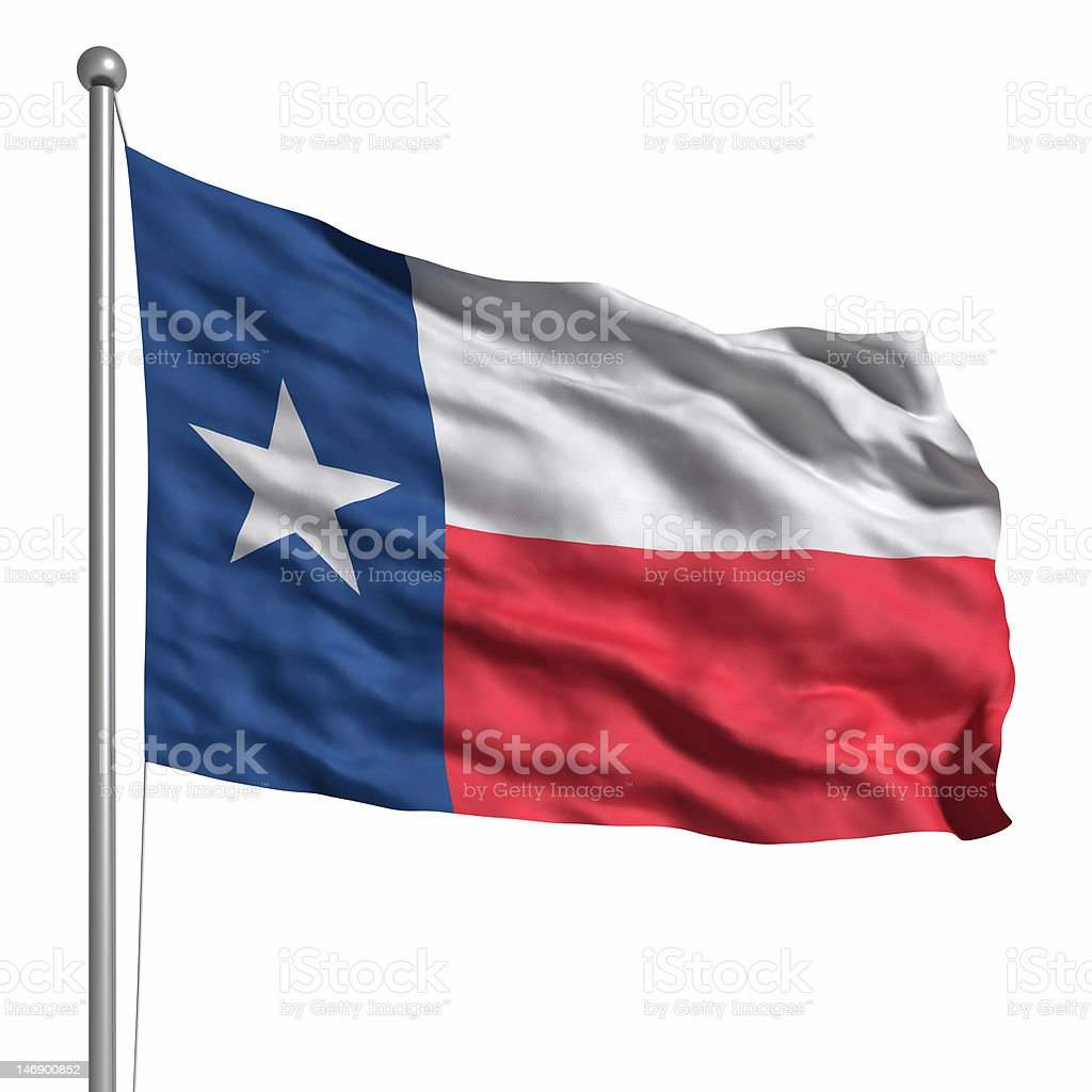 Flag of the Texas (isolated) stock photo