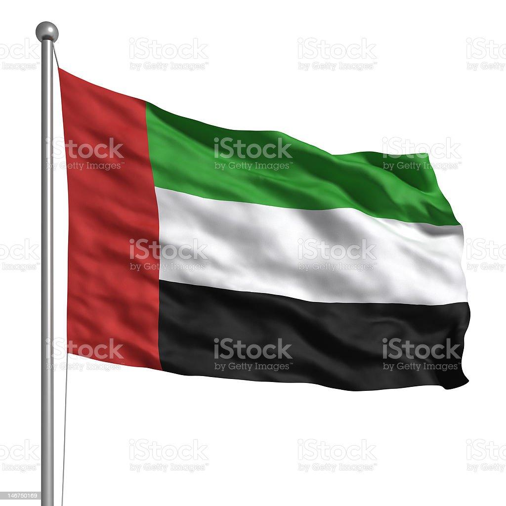 Flag of the United Arab Emirates (Isolated) stock photo