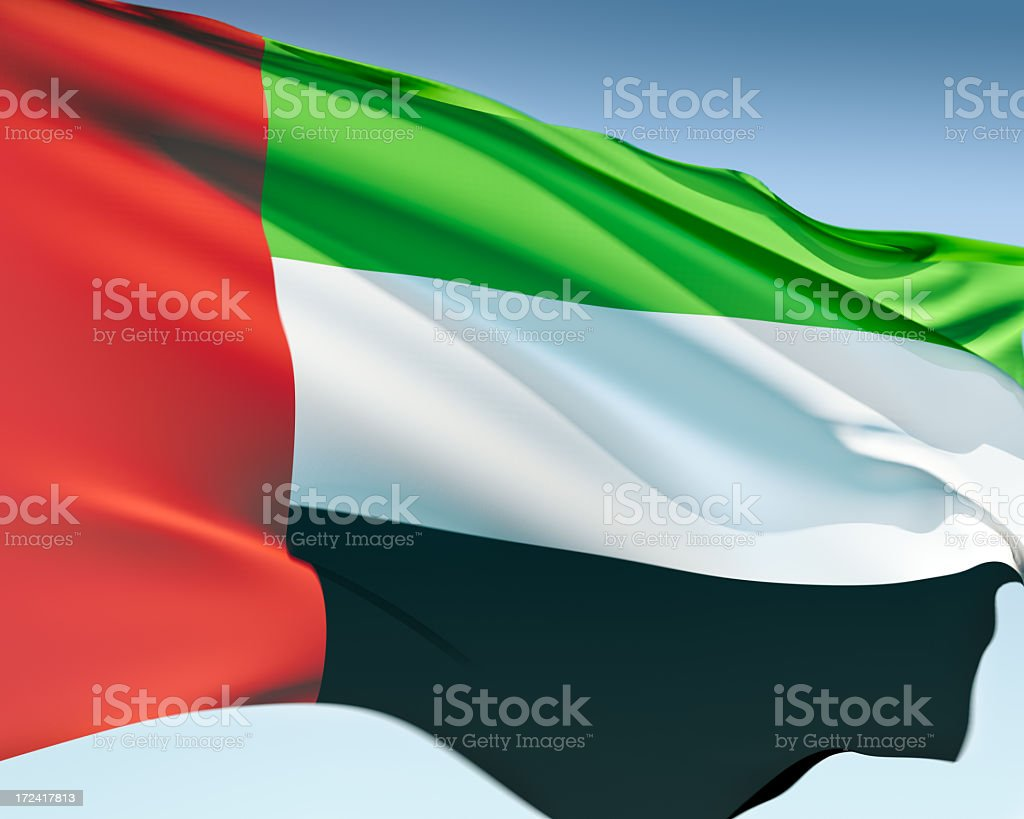 Flag of the United Arab Emirates royalty-free stock photo