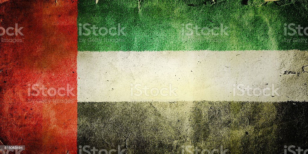 flag of the United Arab Emirates stock photo