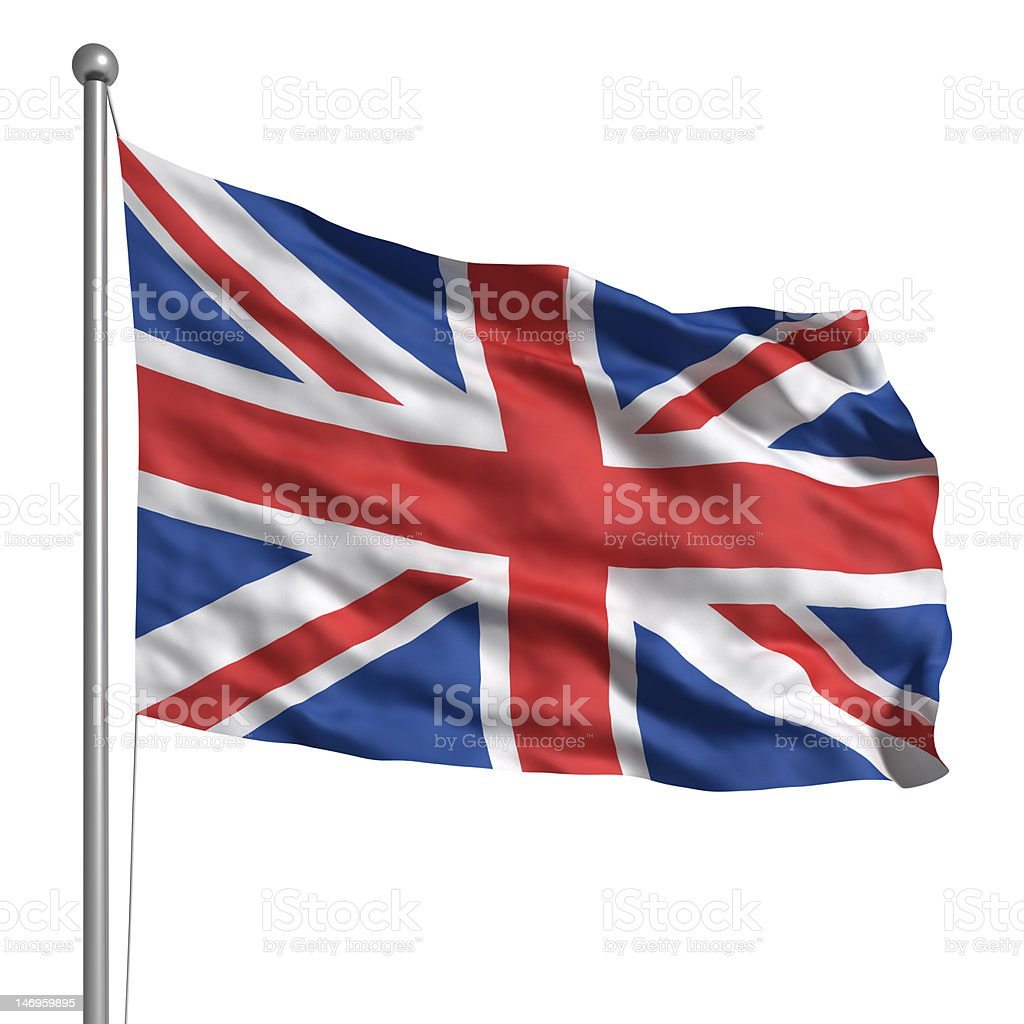 Flag of the United Kingdom (Isolated) stock photo