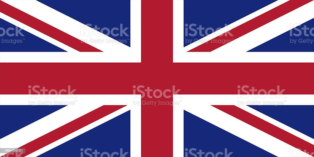 Flag of the United Kingdom. royalty-free stock photo