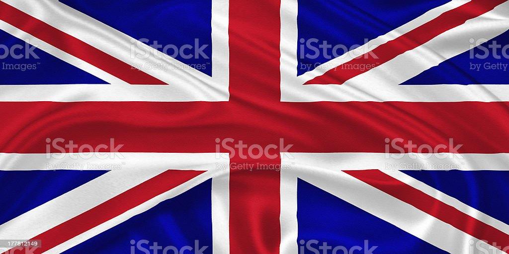 Flag of the United Kingdom stock photo
