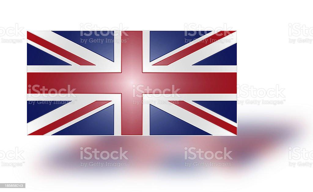 Flag of the United Kingdom (stylized I). royalty-free stock photo