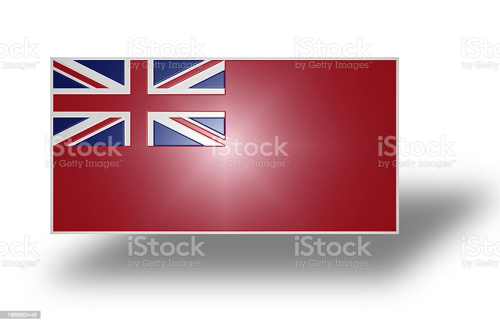 Flag of the United Kingdom (Red Ensign). Stylized I. royalty-free stock photo