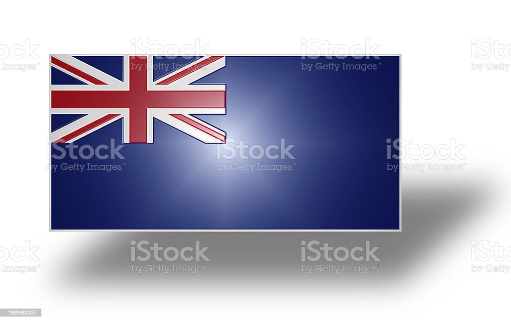 Flag of the United Kingdom (Blue Ensign). Stylized I. royalty-free stock photo