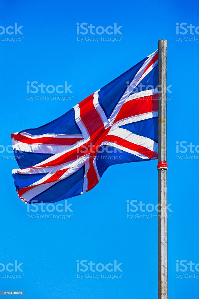 Flag of the United Kingdon of Great Britain stock photo