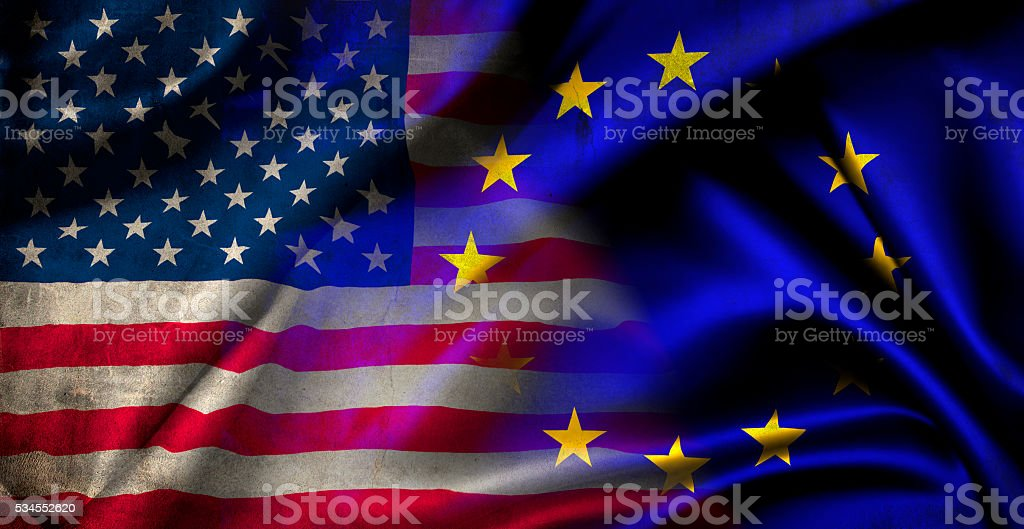 Flag of the United States of America stock photo