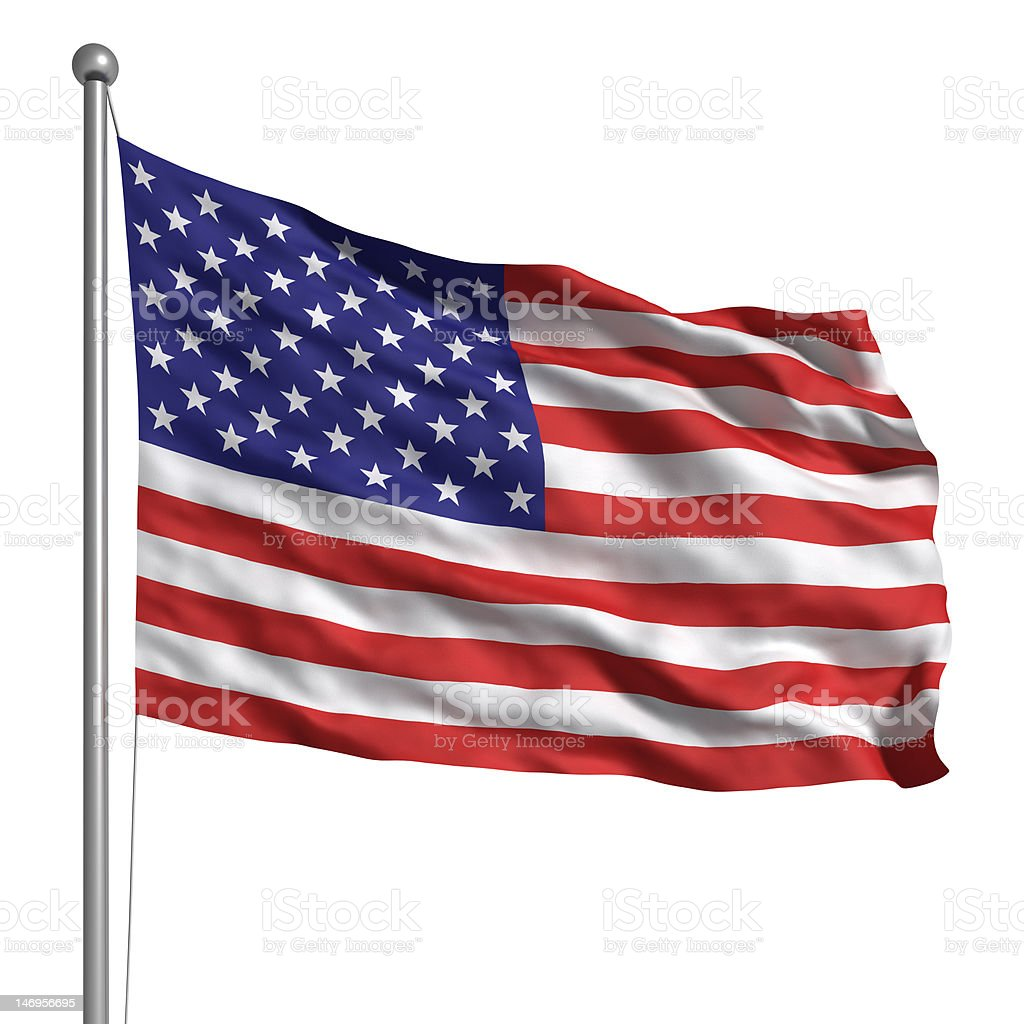 Flag of the United States (Isolated) royalty-free stock photo