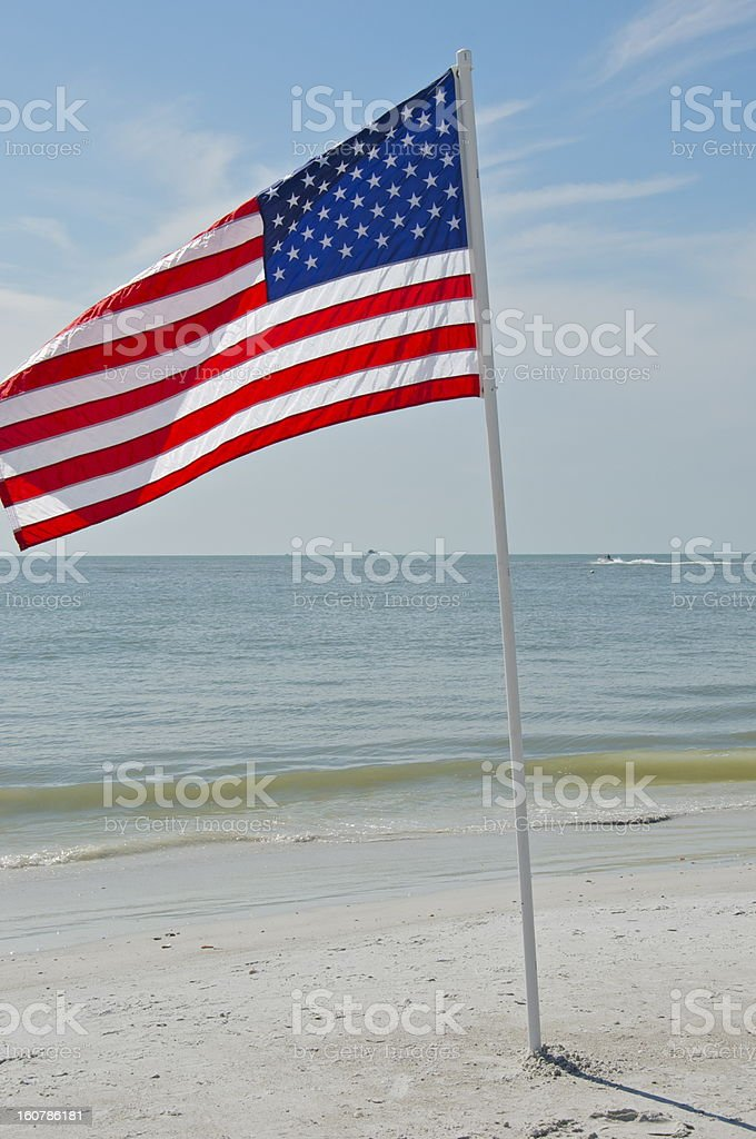 Flag of the United States royalty-free stock photo
