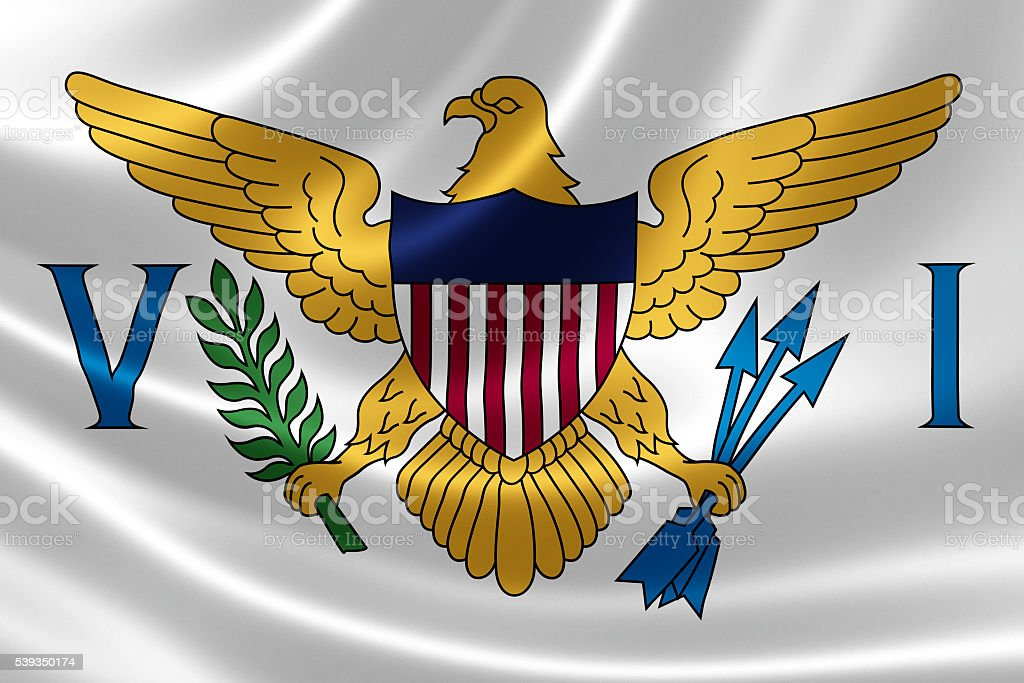 Flag of the United States Virgin Islands stock photo