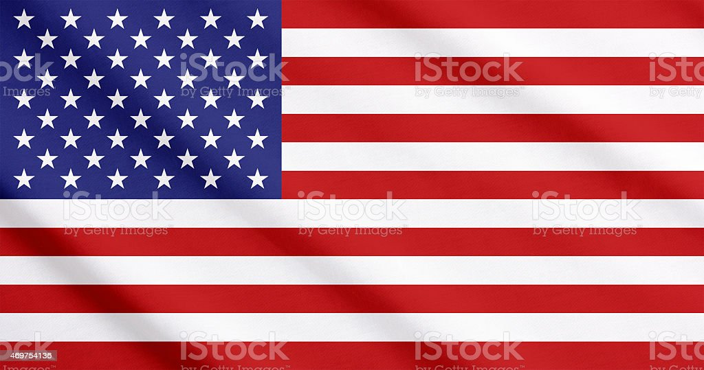 Flag of the United States waving stock photo