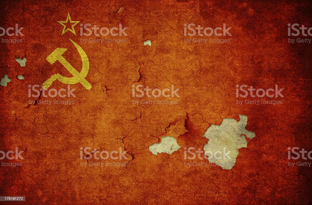 Flag of the URSS stock photo