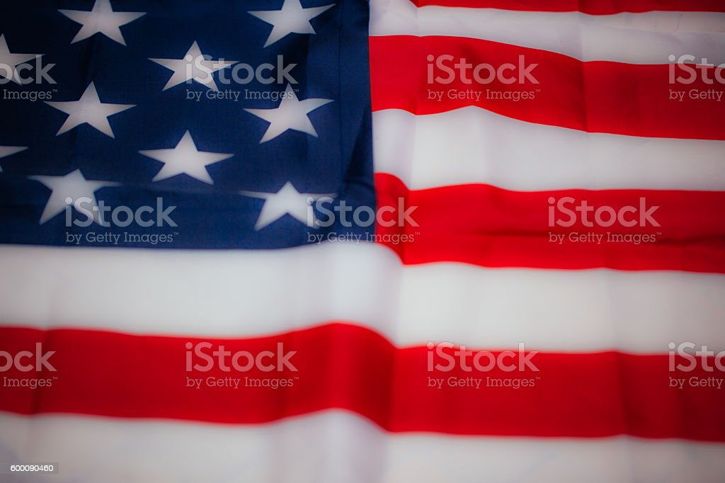 Flag of the US stock photo