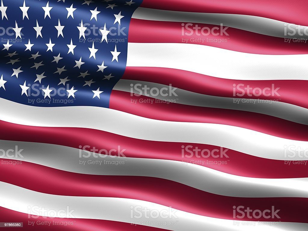Flag of the U.S.A. royalty-free stock photo