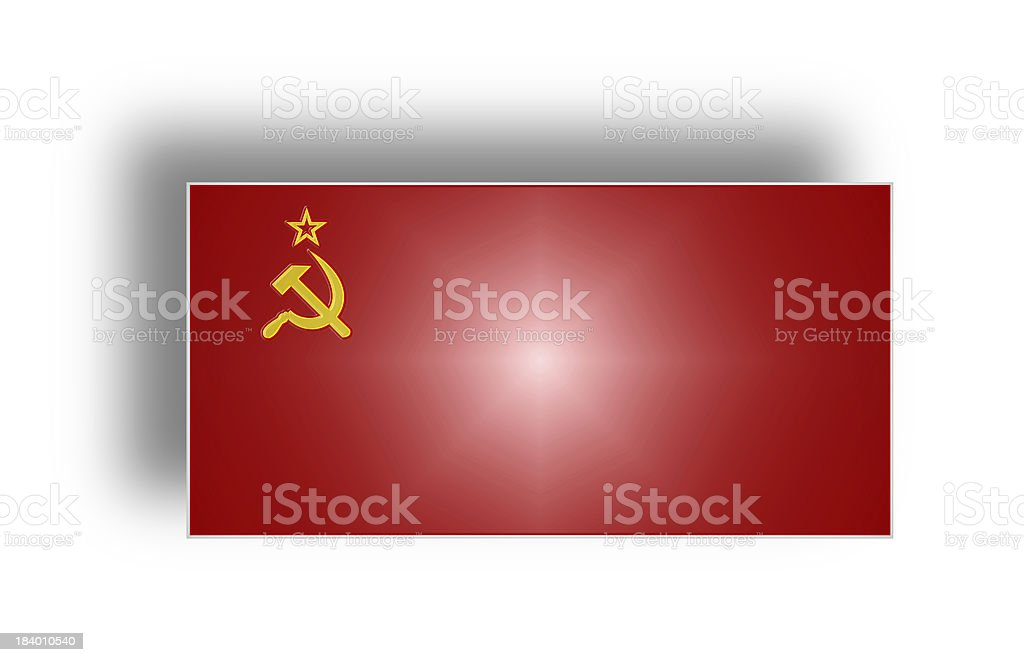 Flag of the USSR (stylized I). royalty-free stock photo