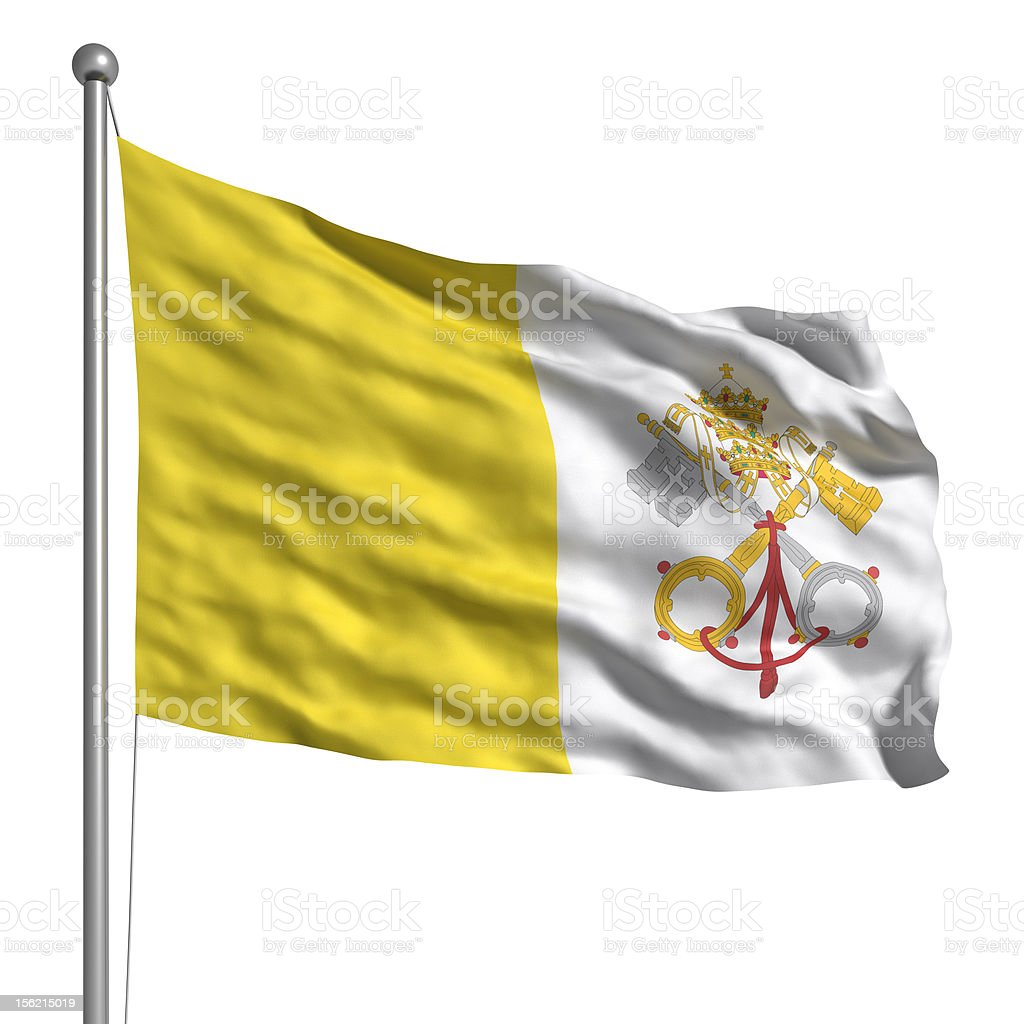 Flag of the Vatican (Isolated) royalty-free stock photo