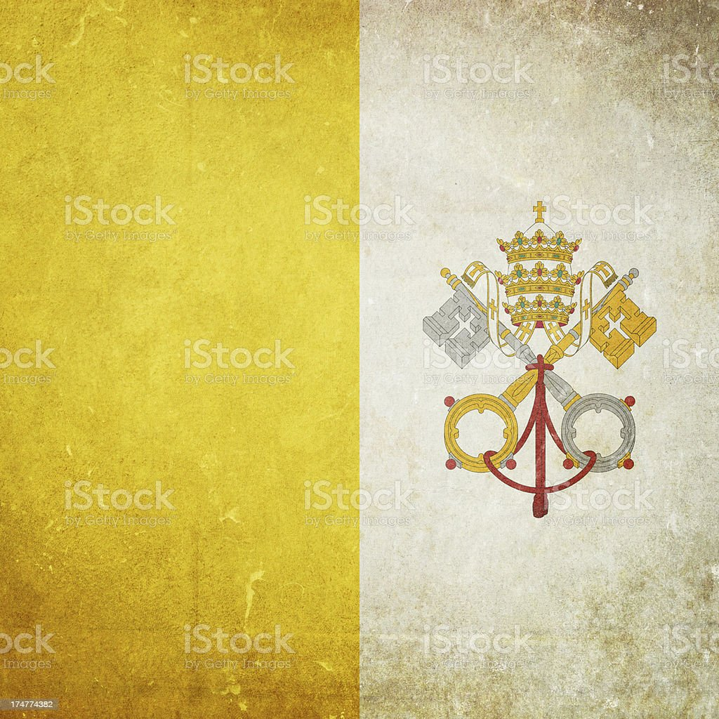 Flag of the Vatican royalty-free stock photo