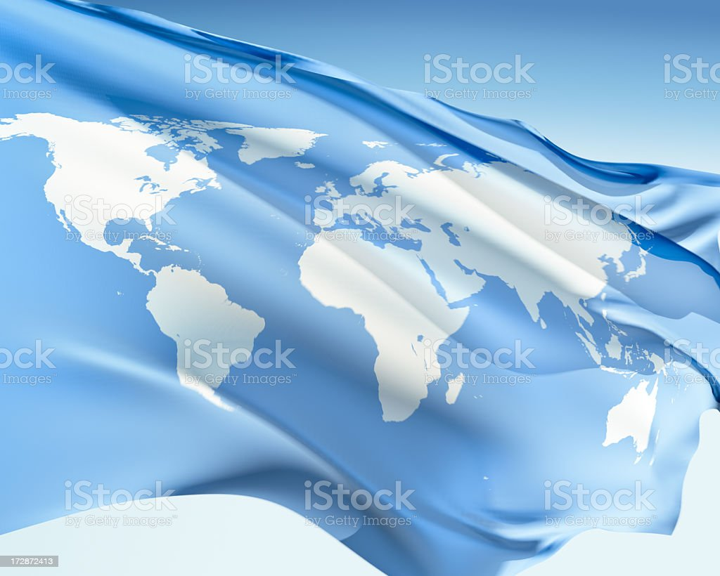 Flag of the World stock photo