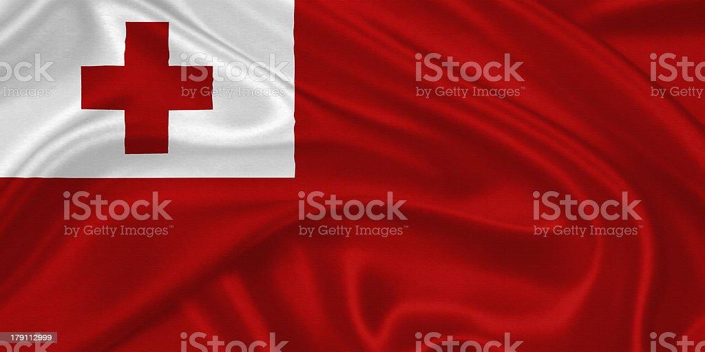 flag of Tonga stock photo