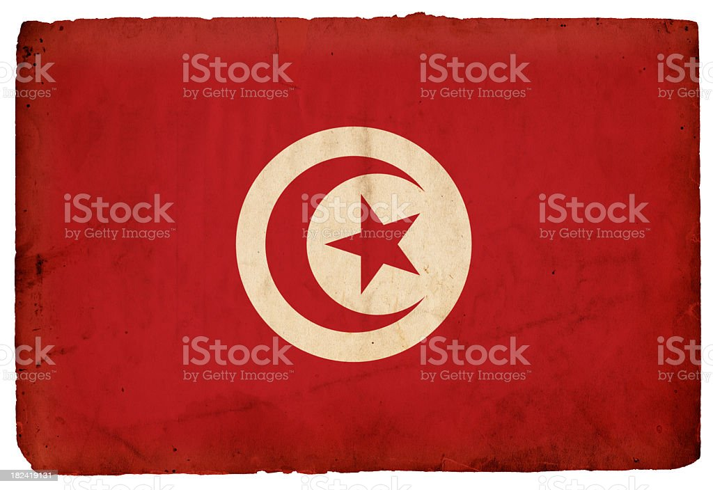 Flag of Tunisia - XXXL stock photo
