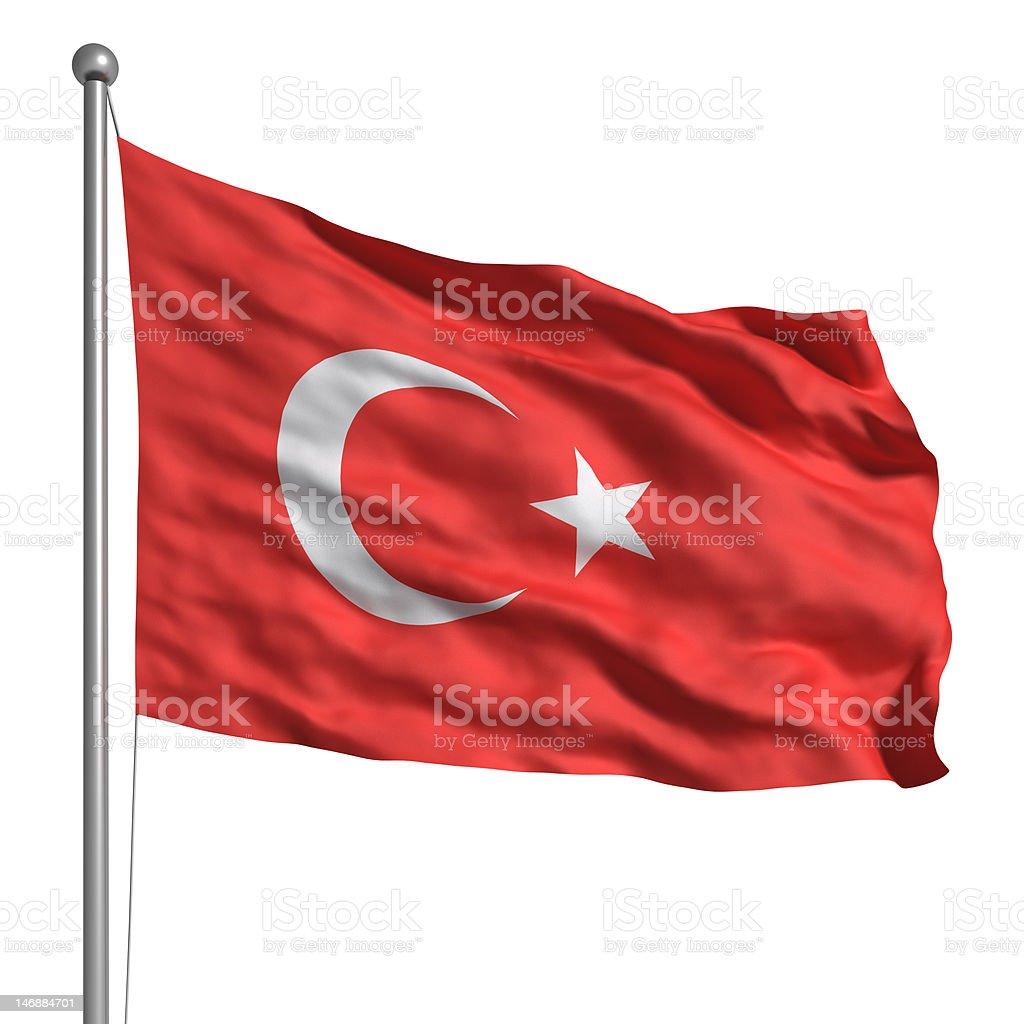 Flag of Turkey (Isolated) stock photo