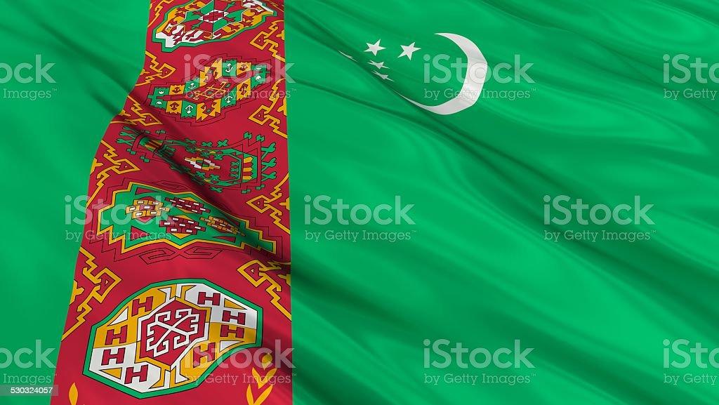 Flag of Turkmenistan. stock photo