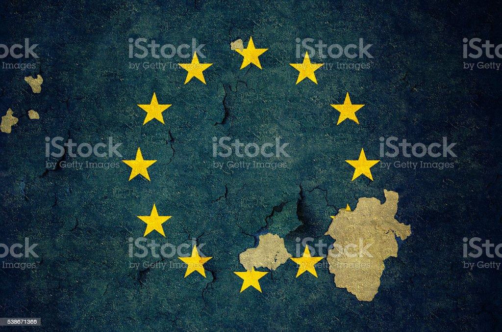 Flag of UE stock photo