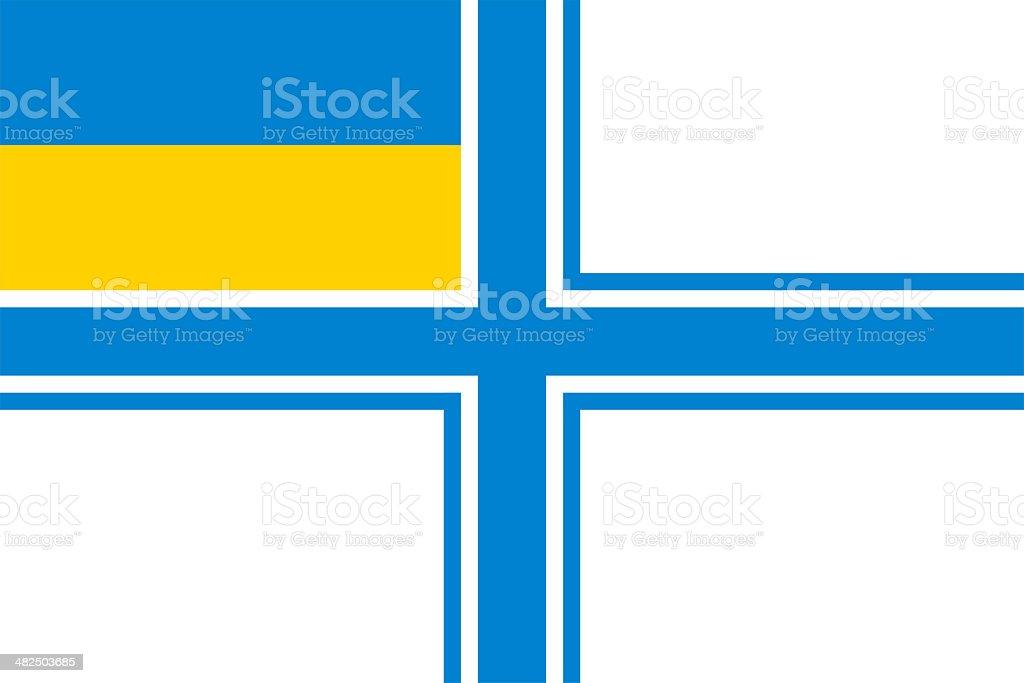 Flag of Ukraine naval. stock photo