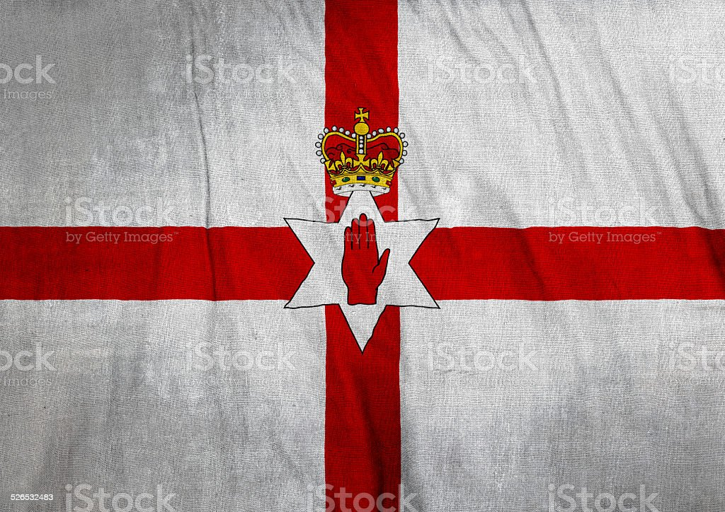 Flag of Ulster stock photo