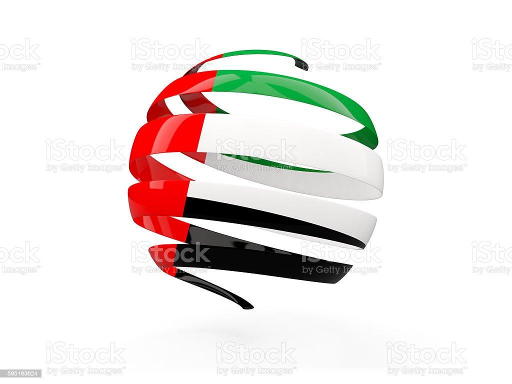 Flag of united arab emirates, round icon stock photo