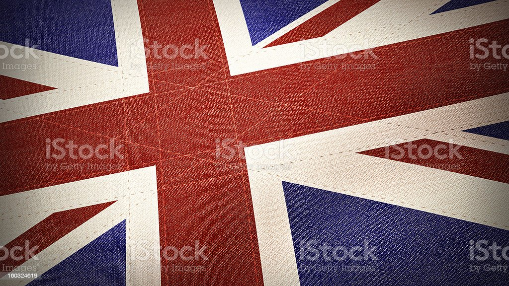 Flag of United Kingdom in textile - Illustration royalty-free stock photo