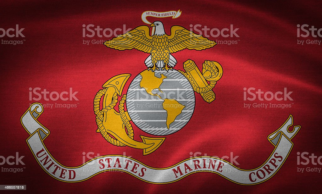 Flag of United States Marine Corps stock photo