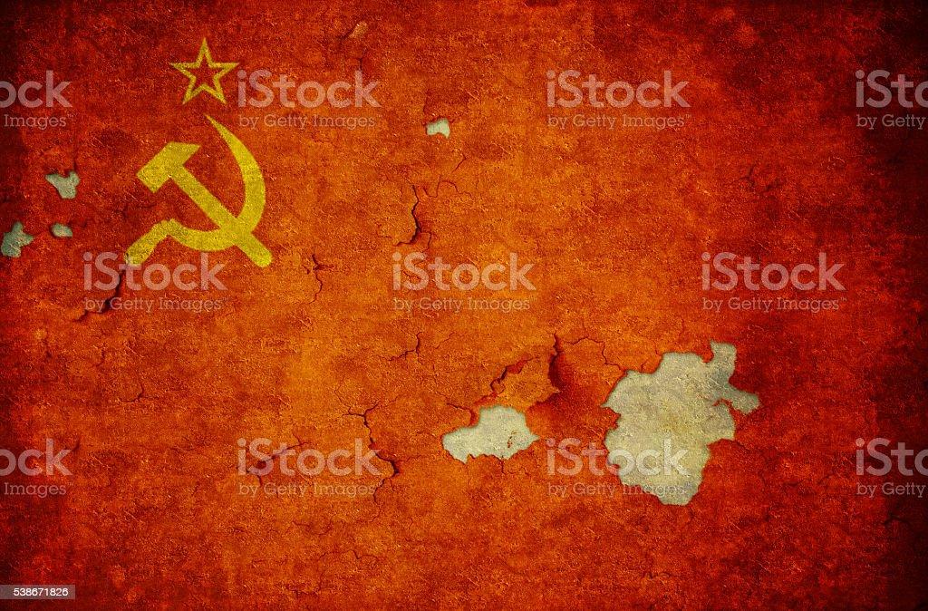 Flag of URSS stock photo