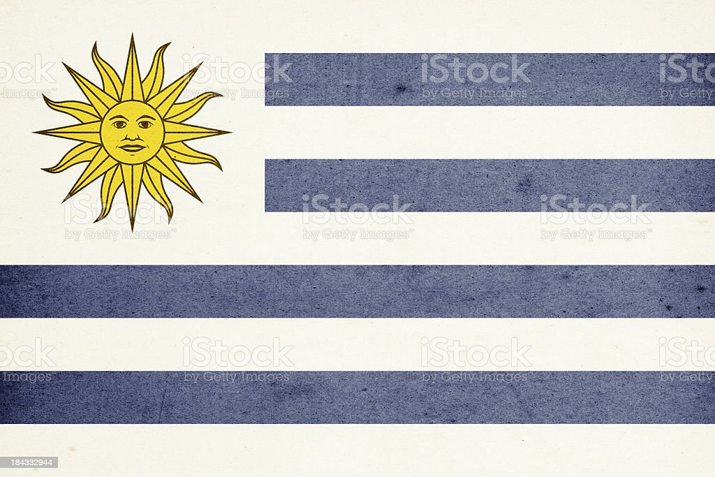 Flag of Uruguay Close-Up (High Resolution Image) royalty-free stock photo