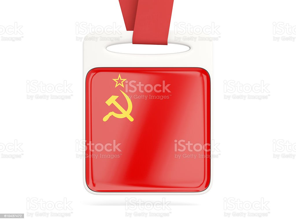Flag of ussr, square card stock photo