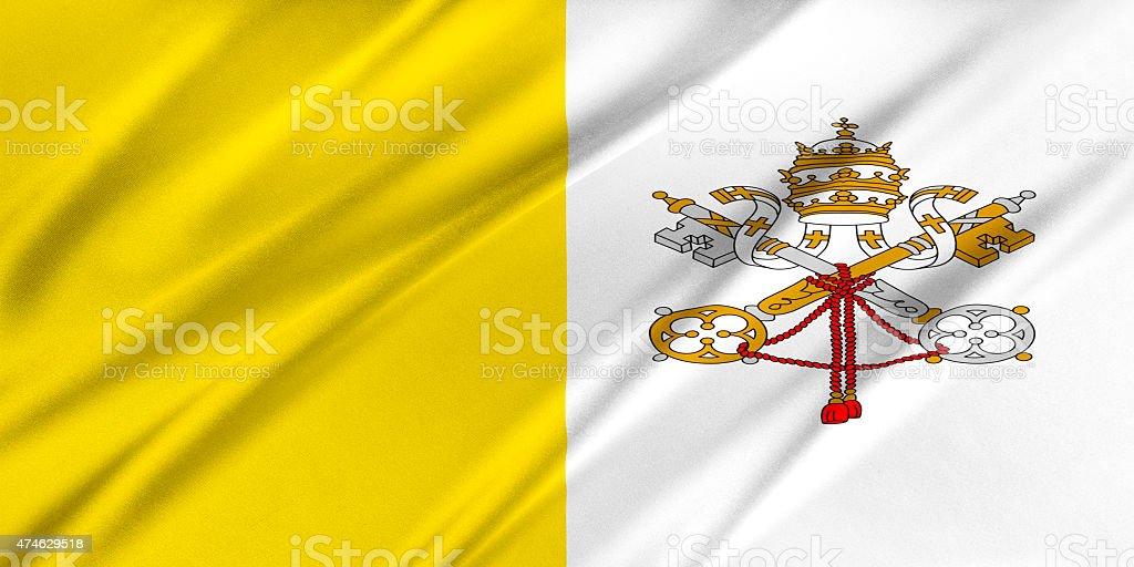 Flag of Vatican stock photo