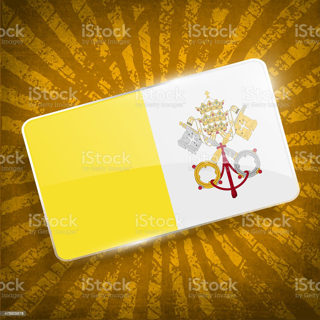Flag of Vatican with old texture. stock photo