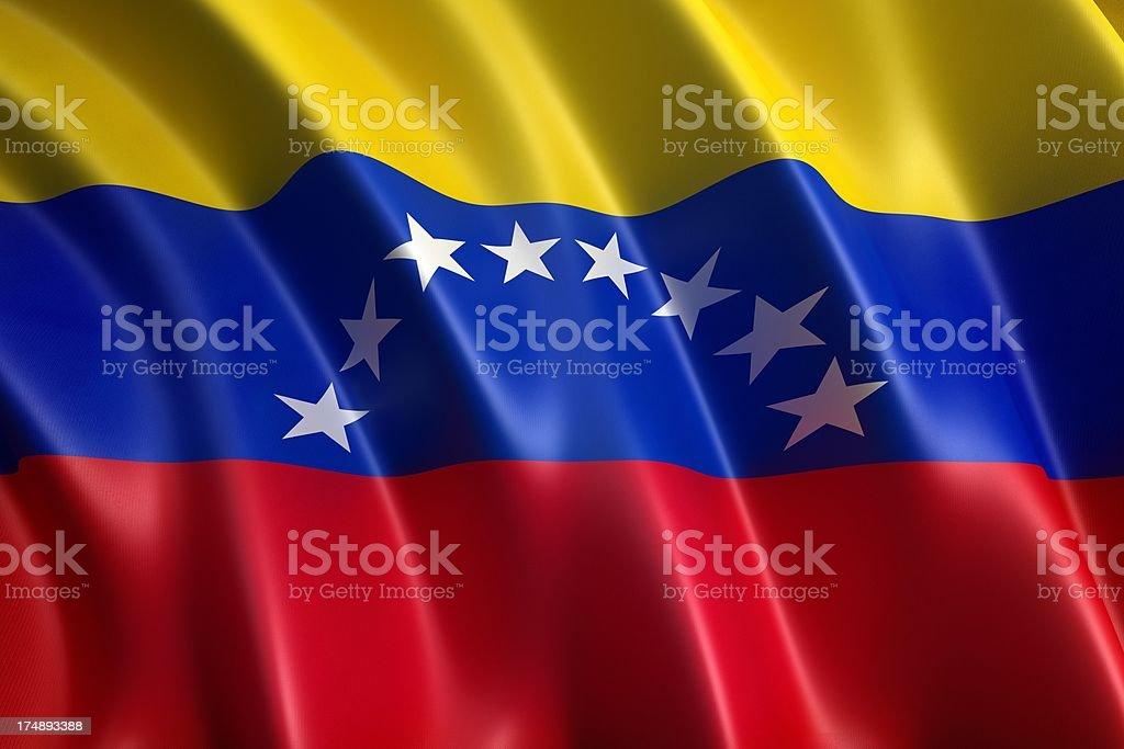 Flag of Venezuela royalty-free stock photo
