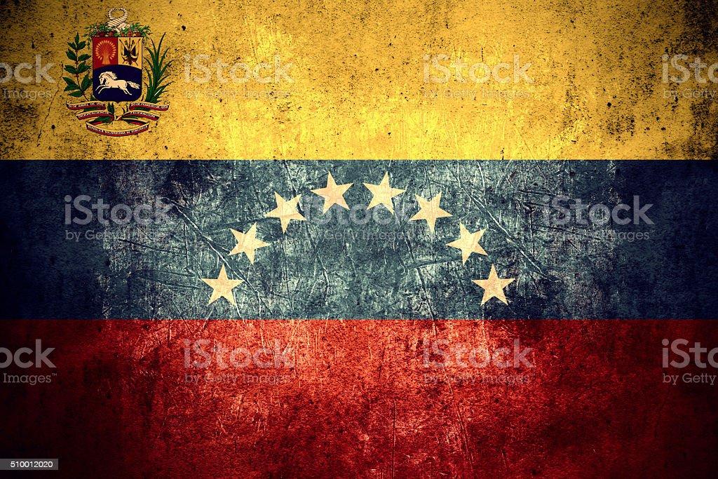 flag of Venezuela stock photo