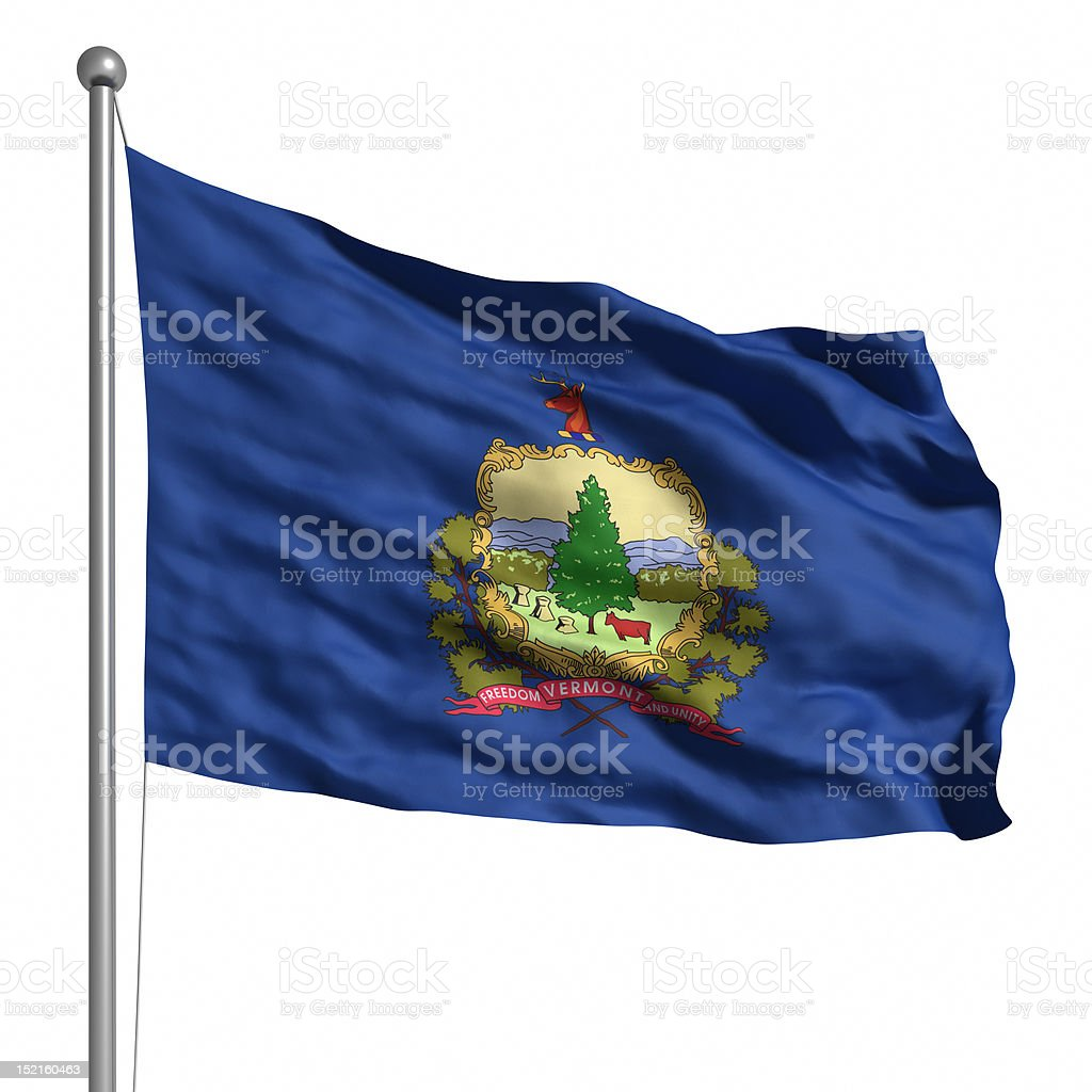 Flag of Vermont (isolated) stock photo
