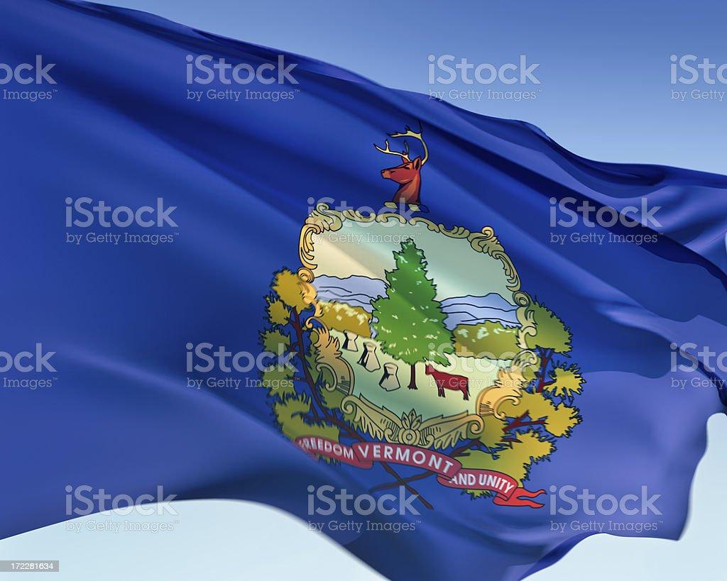 Flag of Vermont stock photo