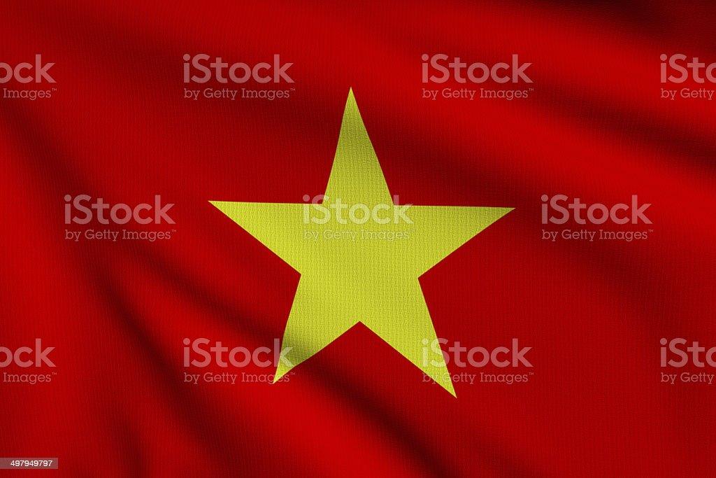 Flag of Vietnam royalty-free stock photo