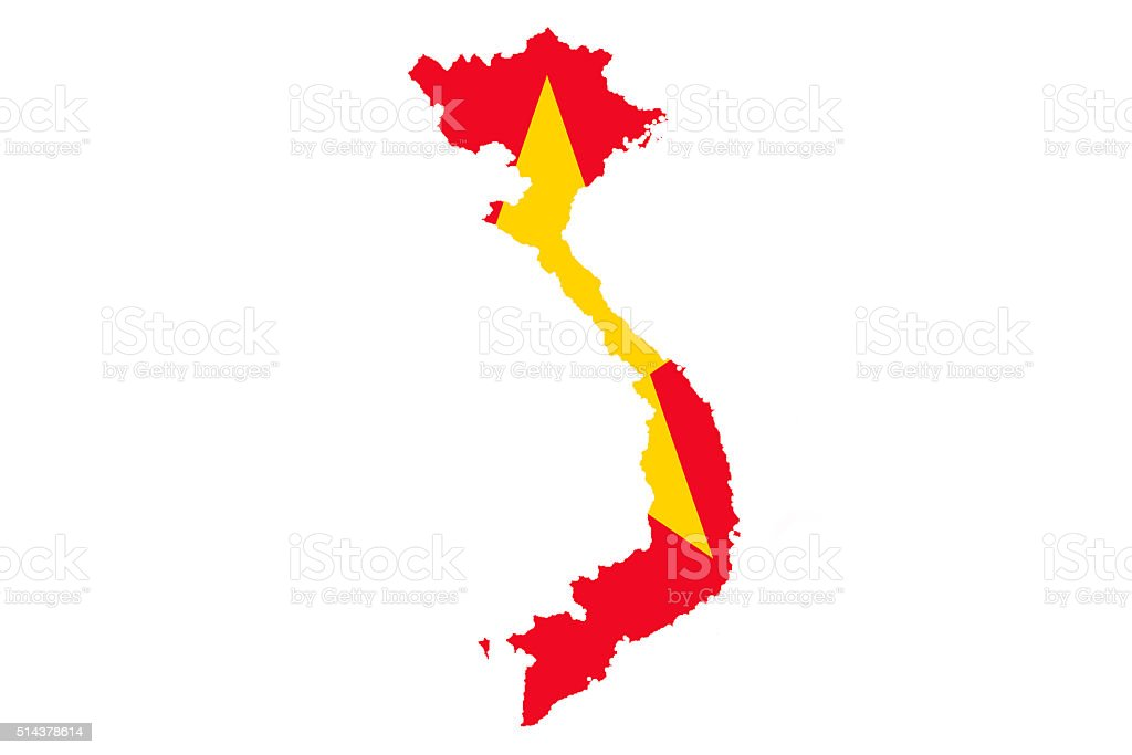 Flag of Vietnam vector art illustration